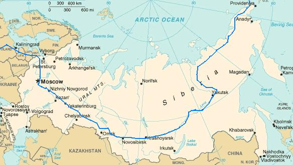 Map Of Russia And Siberia Submited Images